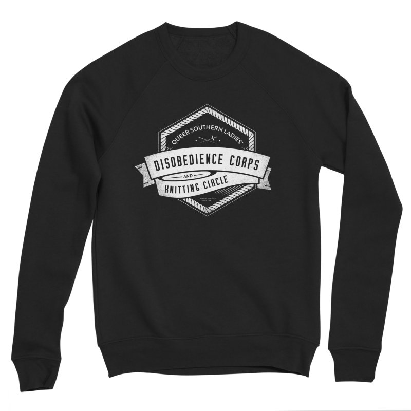 Disobedience and Knitting Men's Sponge Fleece Sweatshirt by Crowglass Design