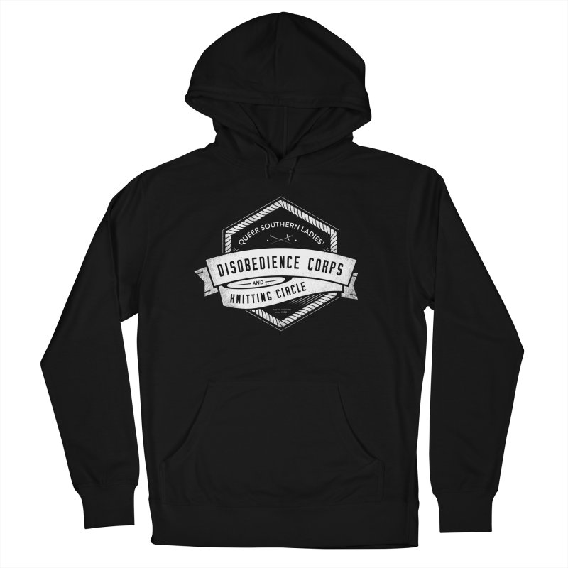 Disobedience and Knitting Men's Pullover Hoody by Crowglass Design