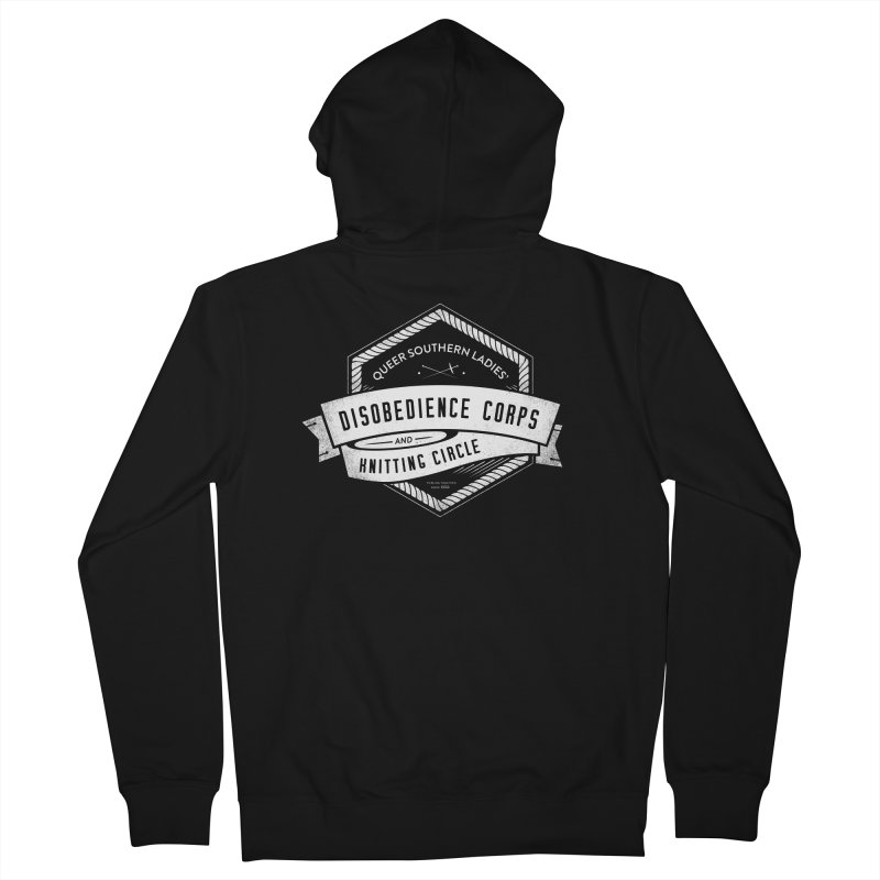 Disobedience and Knitting Men's French Terry Zip-Up Hoody by Crowglass Design