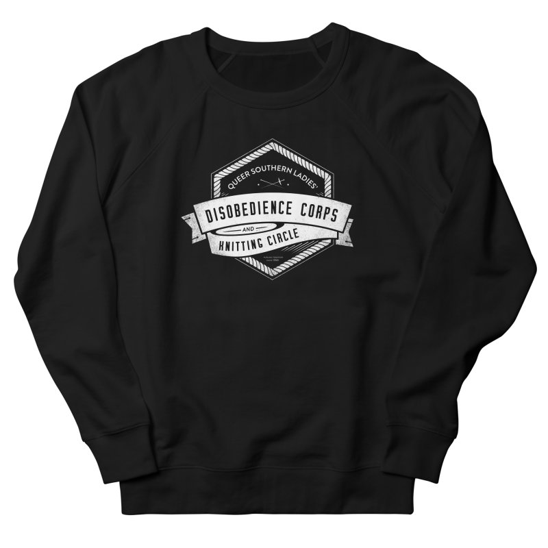Disobedience and Knitting Men's French Terry Sweatshirt by Crowglass Design