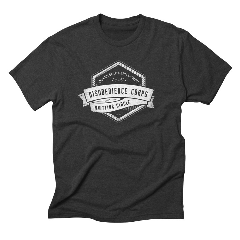 Disobedience and Knitting Men's Triblend T-Shirt by Crowglass Design