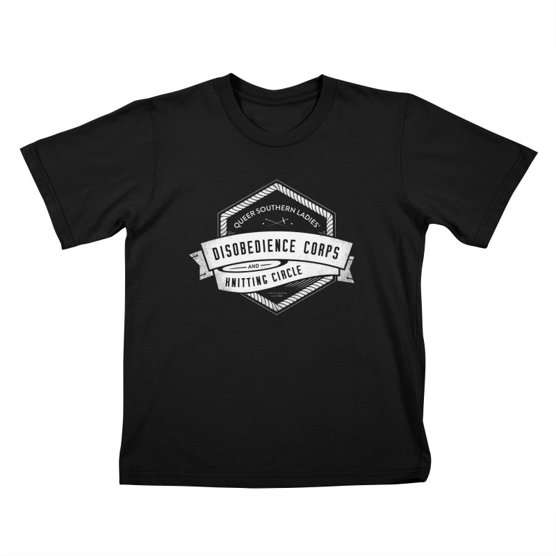 Disobedience and Knitting Kids T-Shirt by Crowglass Design