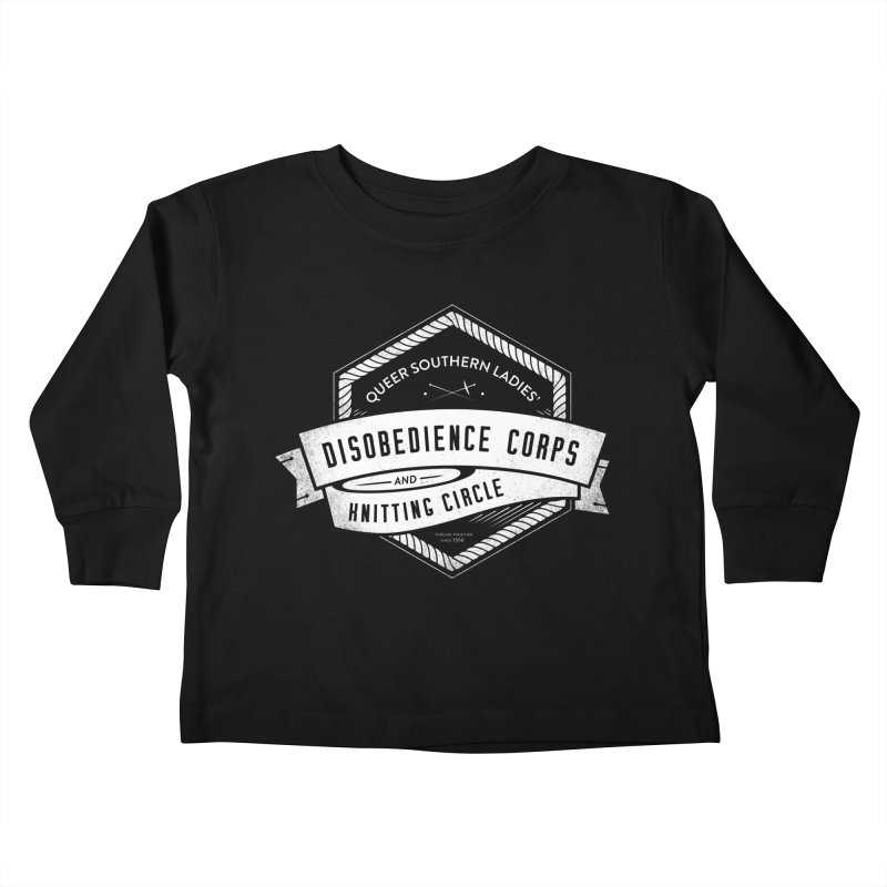 Disobedience and Knitting Kids Toddler Longsleeve T-Shirt by Crowglass Design