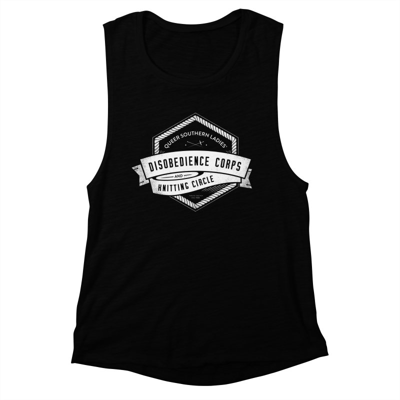 Disobedience and Knitting Women's Muscle Tank by Crowglass Design