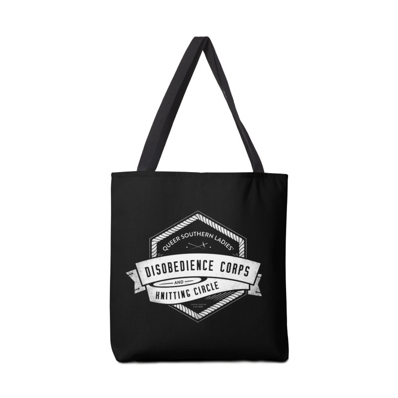 Disobedience and Knitting Accessories Tote Bag Bag by Crowglass Design