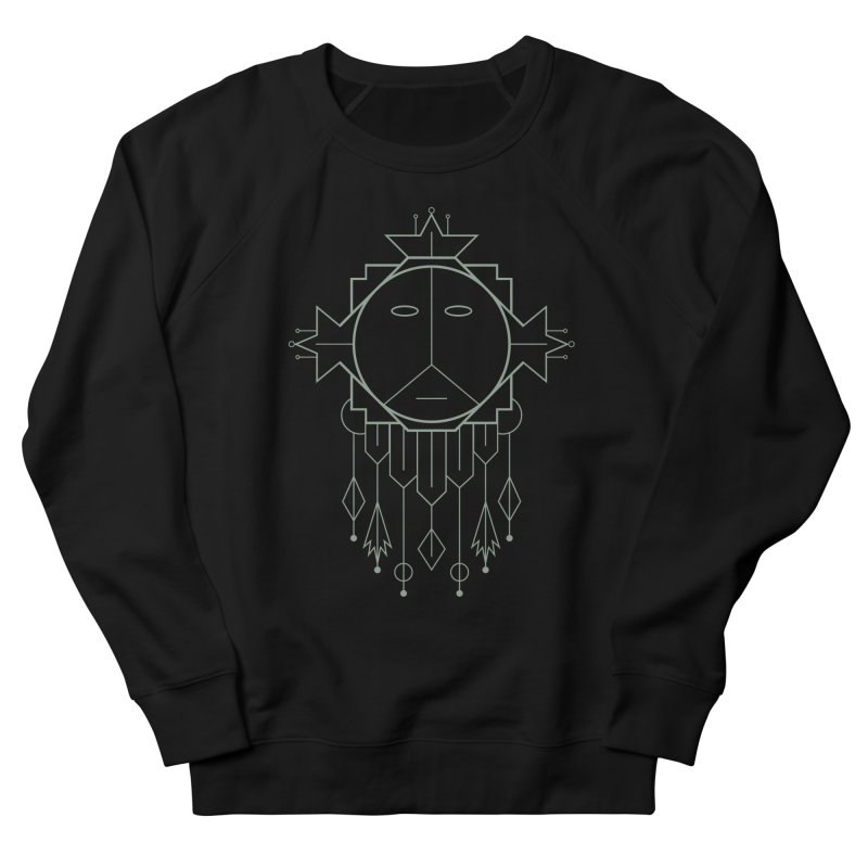 Queen Flora Women's French Terry Sweatshirt by Crowglass Design