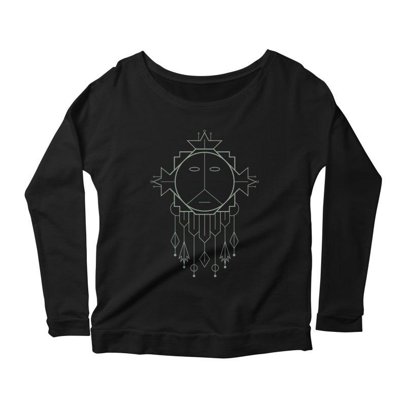 Queen Flora Women's Scoop Neck Longsleeve T-Shirt by Crowglass Design