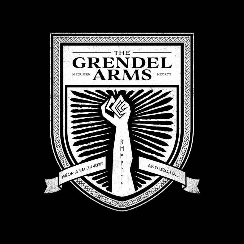 The Grendel Arms Men's T-Shirt by Crowglass Design