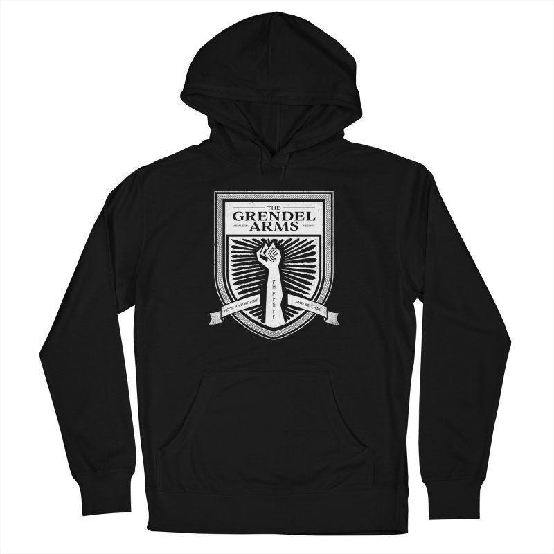 The Grendel Arms Men's French Terry Pullover Hoody by Crowglass Design