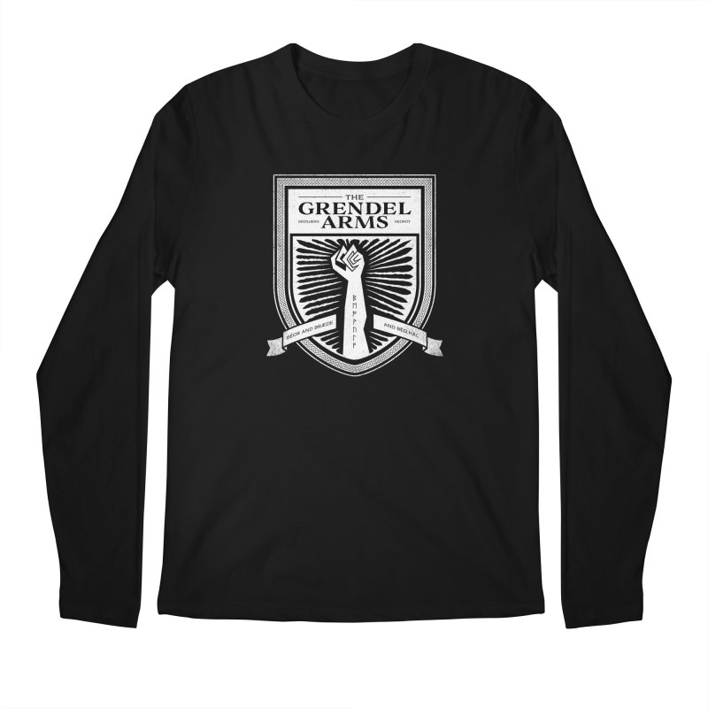 The Grendel Arms Men's Regular Longsleeve T-Shirt by Crowglass Design