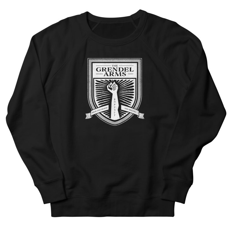 The Grendel Arms Men's French Terry Sweatshirt by Crowglass Design