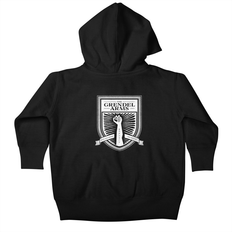 The Grendel Arms Kids Baby Zip-Up Hoody by Crowglass Design