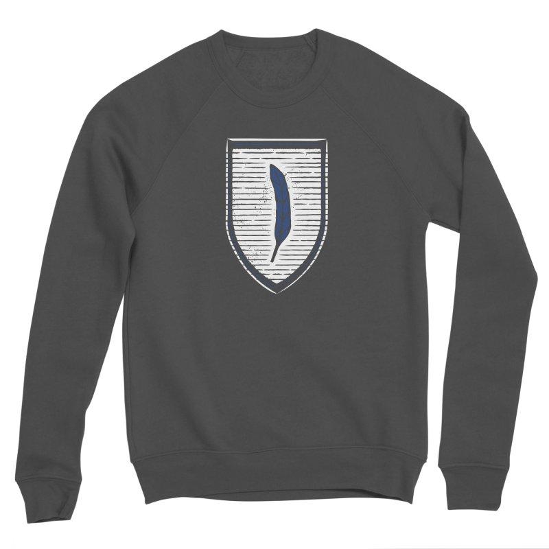 Bluefeather Men's Sponge Fleece Sweatshirt by Crowglass Design