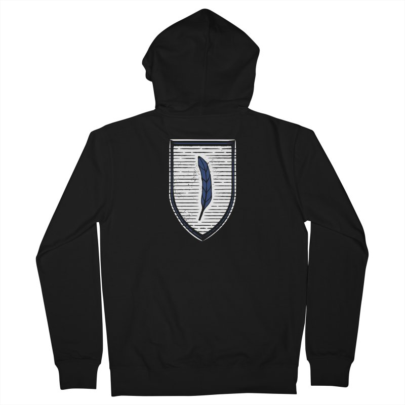 Bluefeather Men's French Terry Zip-Up Hoody by Crowglass Design