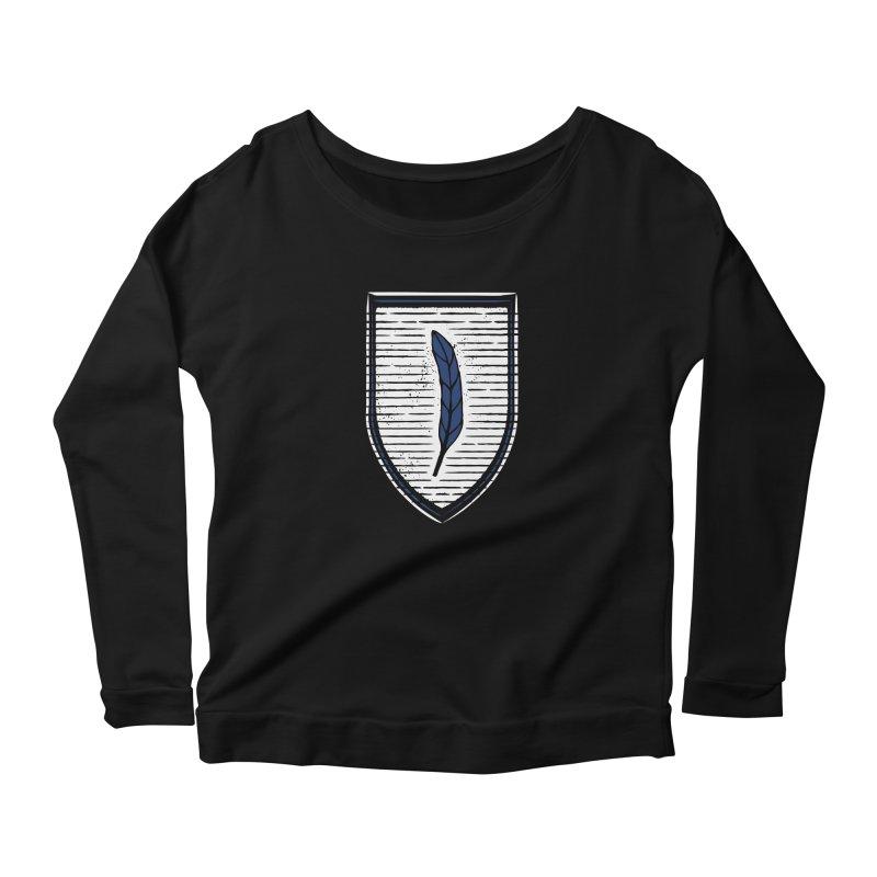 Bluefeather Women's Scoop Neck Longsleeve T-Shirt by Crowglass Design