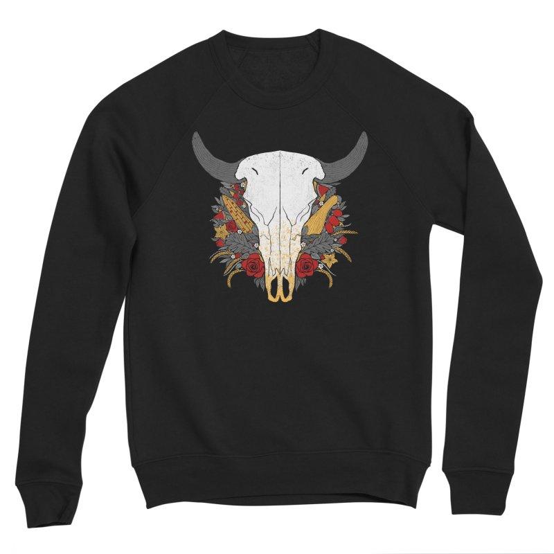 Summer Ox Men's Sponge Fleece Sweatshirt by Crowglass Design