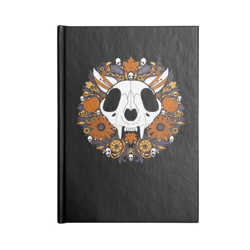 Halloween Cat Accessories Lined Journal Notebook by Crowglass Design