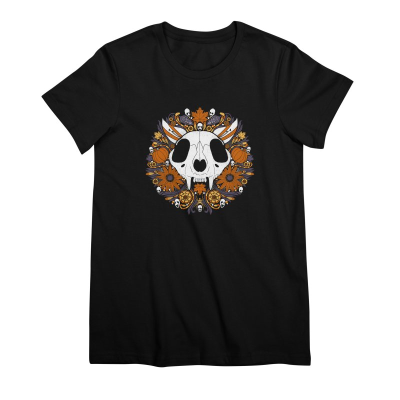 Halloween Cat Women's Premium T-Shirt by Crowglass Design