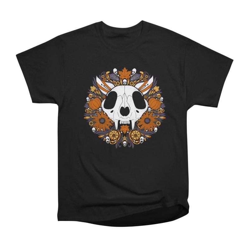 Halloween Cat Feminine T-Shirt by Crowglass Design