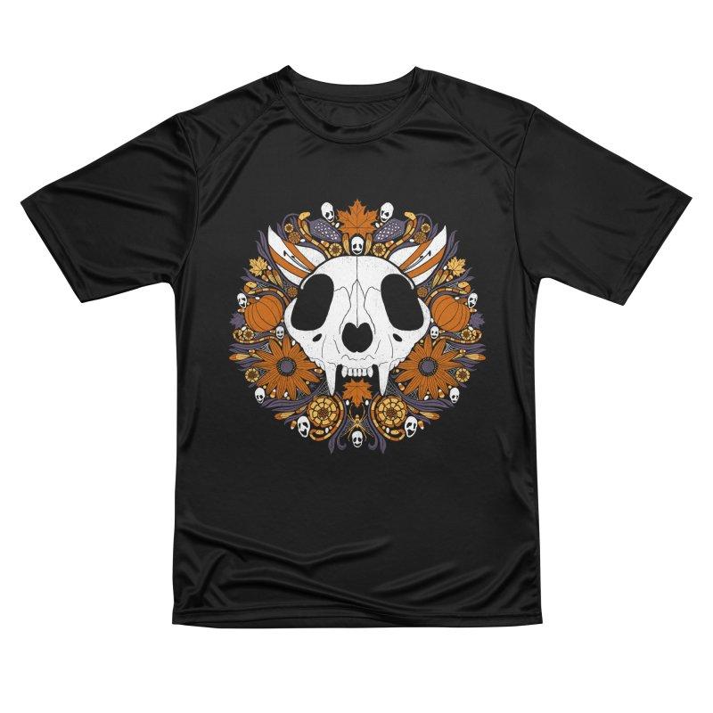 Halloween Cat Men's Performance T-Shirt by Crowglass Design