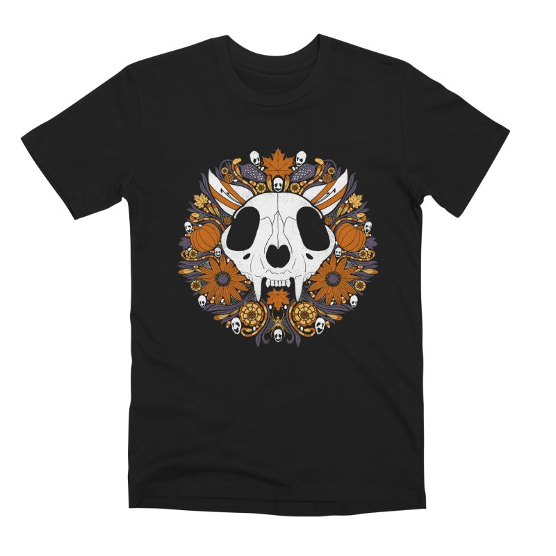Halloween Cat Men's Premium T-Shirt by Crowglass Design