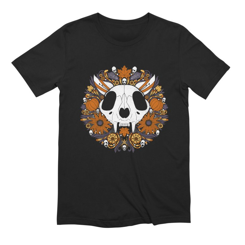 Halloween Cat Men's T-Shirt by Crowglass Design