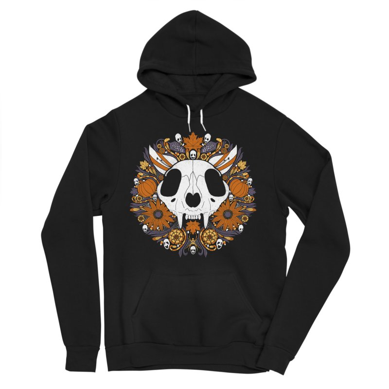 Halloween Cat Men's Pullover Hoody by Crowglass Design
