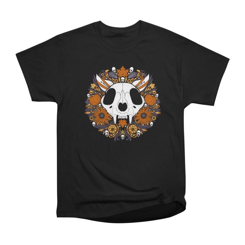 Halloween Cat Women's Heavyweight Unisex T-Shirt by Crowglass Design