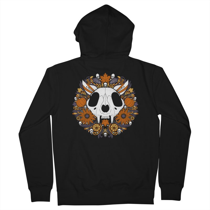 Halloween Cat Men's Zip-Up Hoody by Crowglass Design