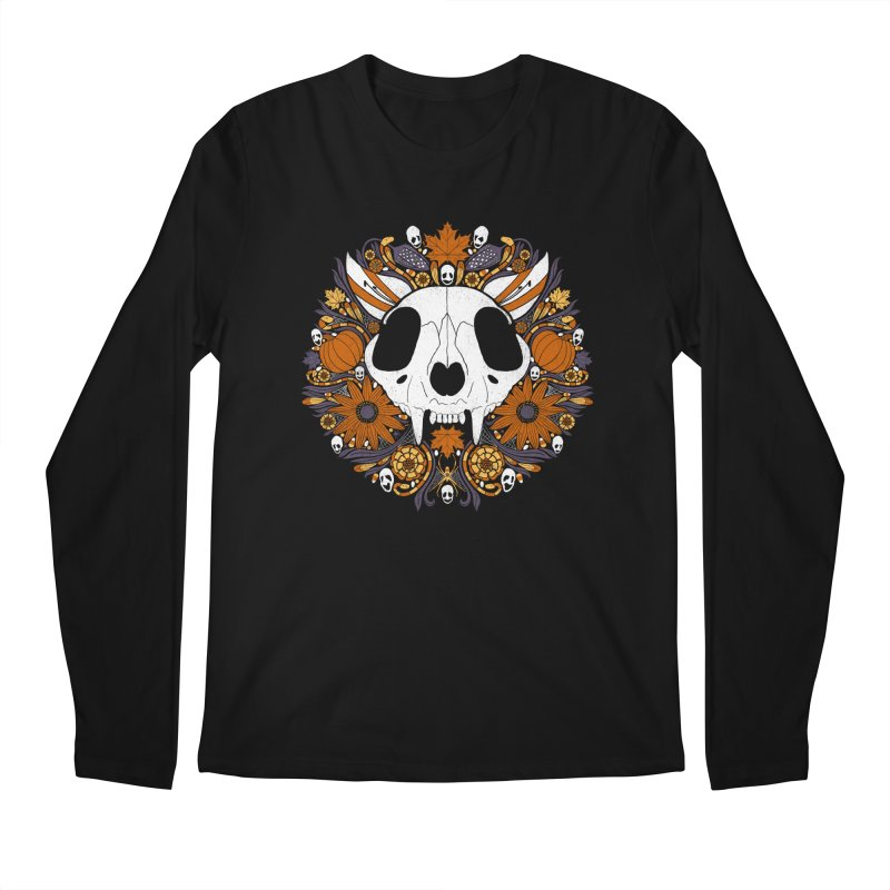 Halloween Cat Men's Regular Longsleeve T-Shirt by Crowglass Design