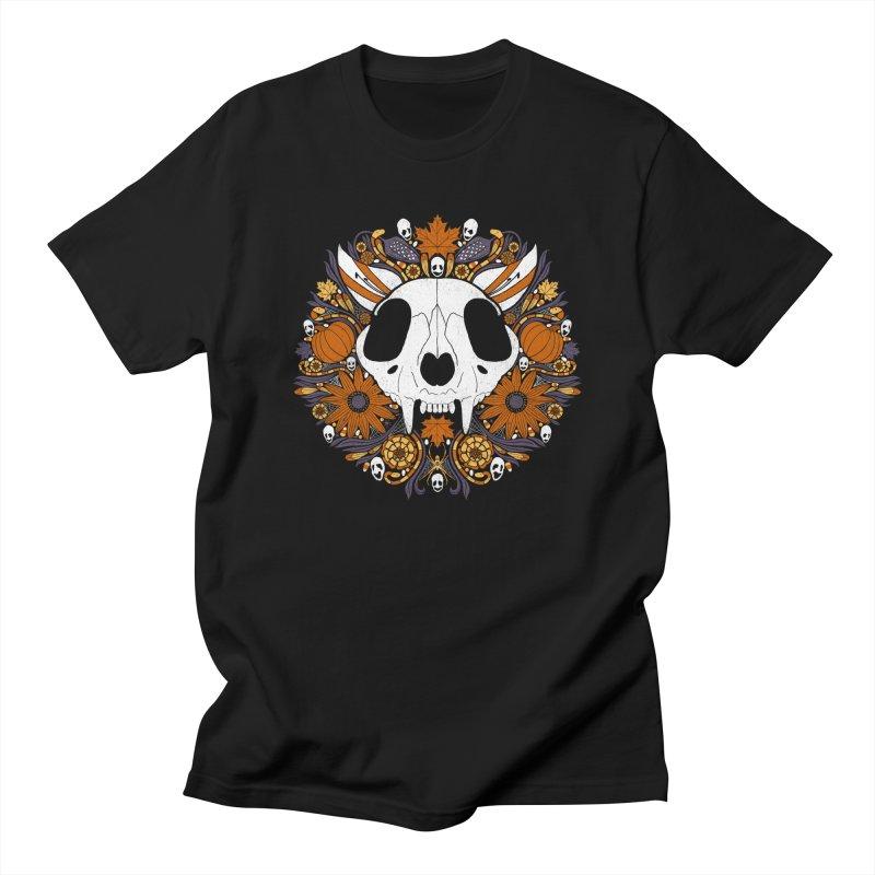 Halloween Cat All Gender T-Shirt by Crowglass Design