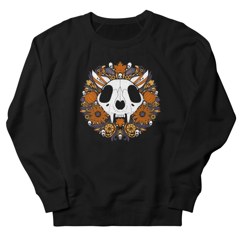 Halloween Cat Men's French Terry Sweatshirt by Crowglass Design