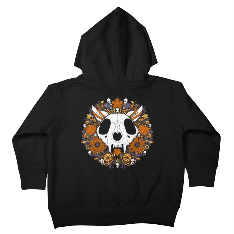 Halloween Cat Kids Toddler Zip-Up Hoody by Crowglass Design
