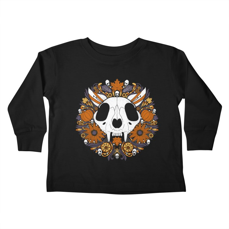 Halloween Cat Kids Toddler Longsleeve T-Shirt by Crowglass Design