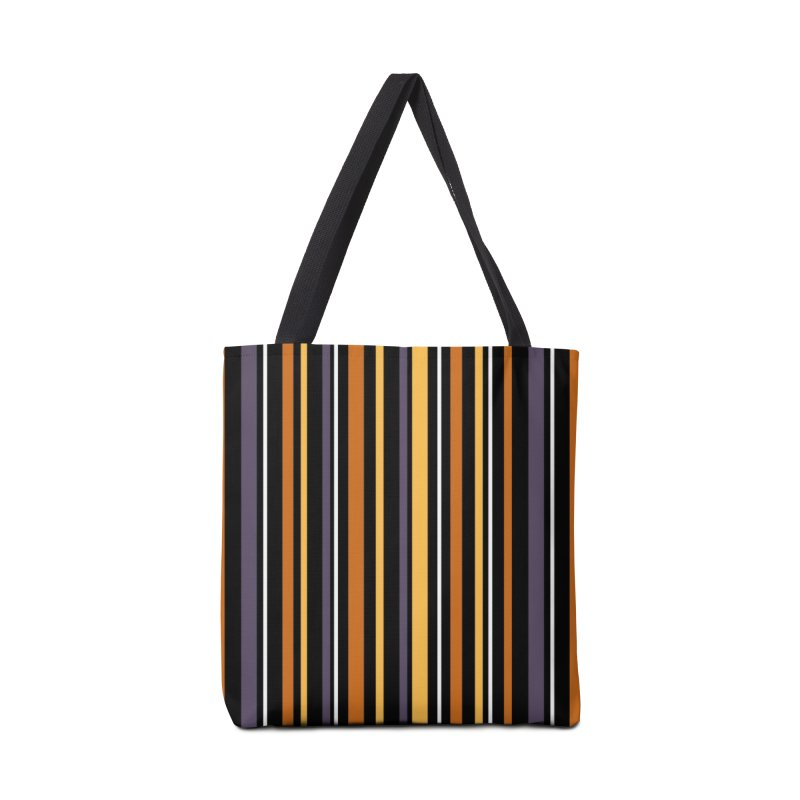 Halloween Stripes Accessories Tote Bag Bag by Crowglass Design