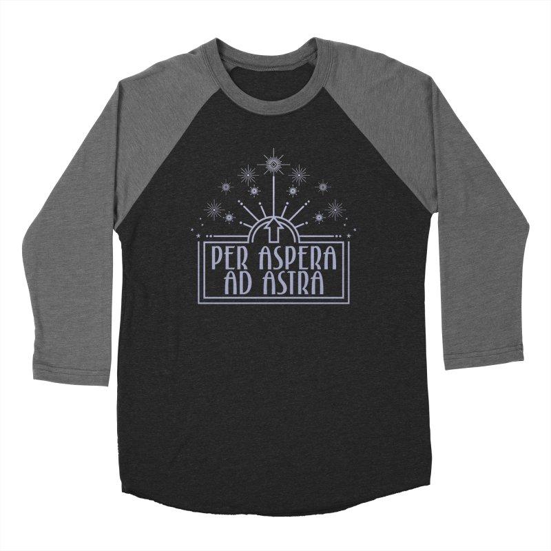Per Aspera Ad Astra Women's Baseball Triblend Longsleeve T-Shirt by Crowglass Design