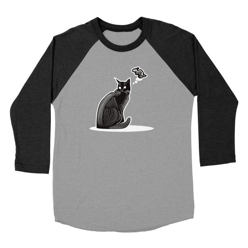 Paws for Death Women's Baseball Triblend Longsleeve T-Shirt by Crowglass Design