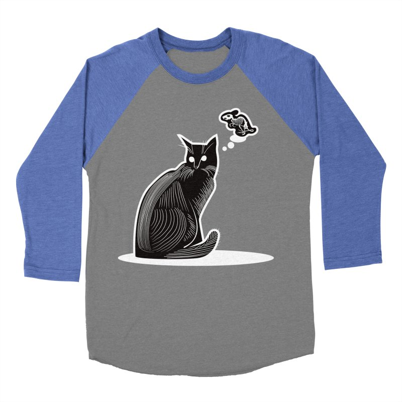 Paws for Death Men's Baseball Triblend Longsleeve T-Shirt by Crowglass Design