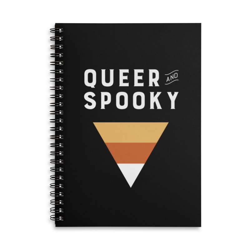 Queer and Spooky Accessories Lined Spiral Notebook by Crowglass Design