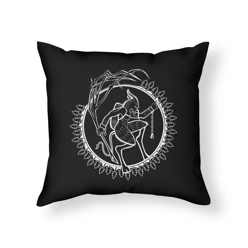 Krampus Pursuant Home Throw Pillow by Crowglass Design