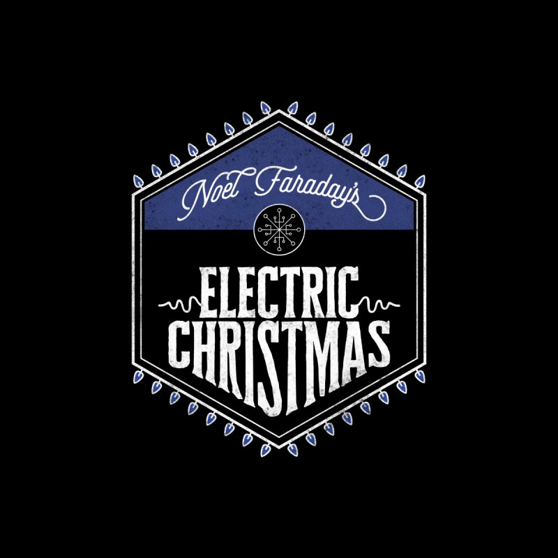 Electric Christmas Men's T-Shirt by Crowglass Design