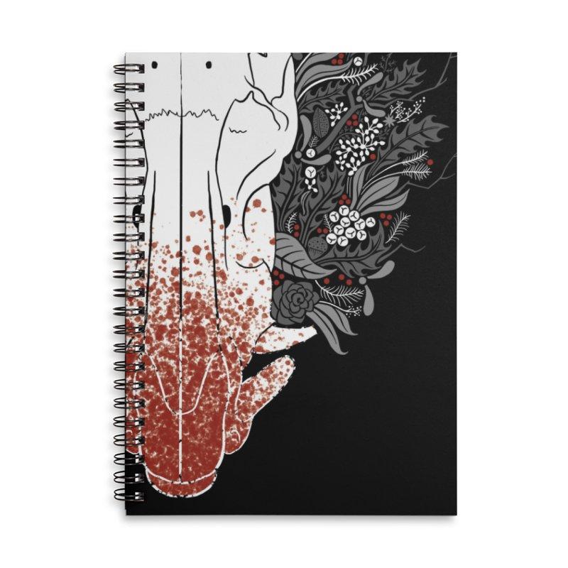 Winter Boar Accessories Notebook by Crowglass Design