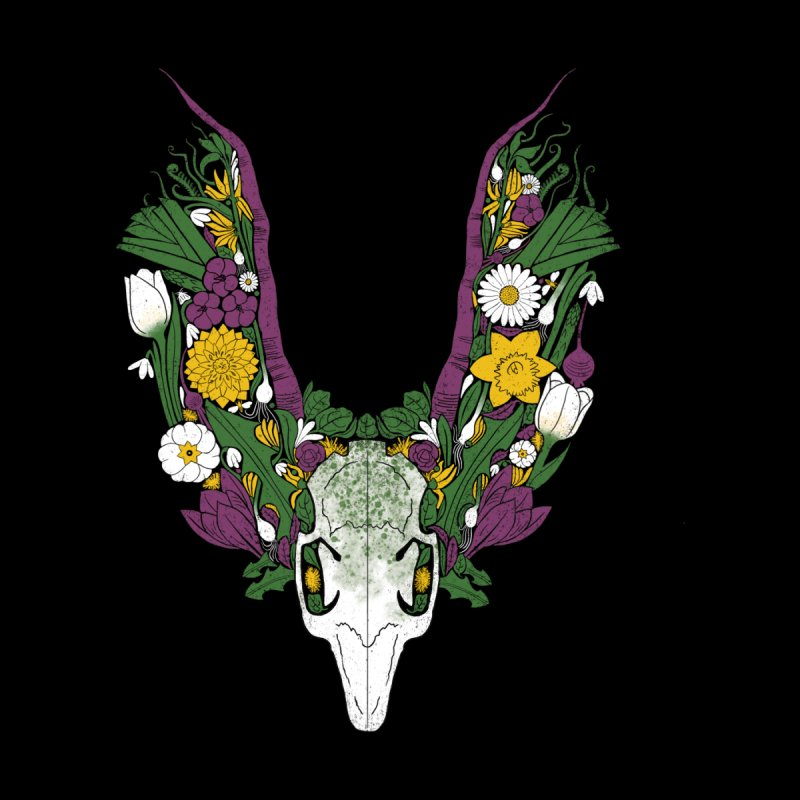 Spring Hare Men's T-Shirt by Crowglass Design