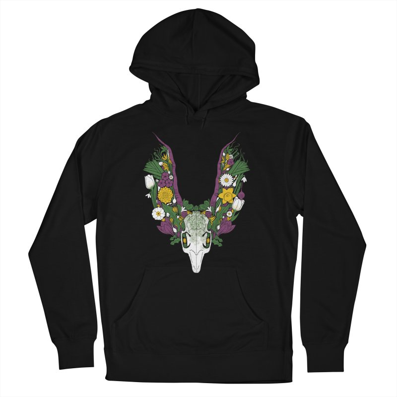 Spring Hare Men's French Terry Pullover Hoody by Crowglass Design