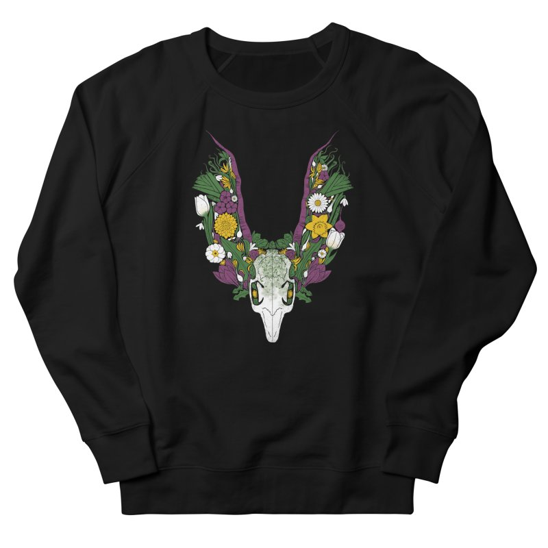 Spring Hare Women's French Terry Sweatshirt by Crowglass Design