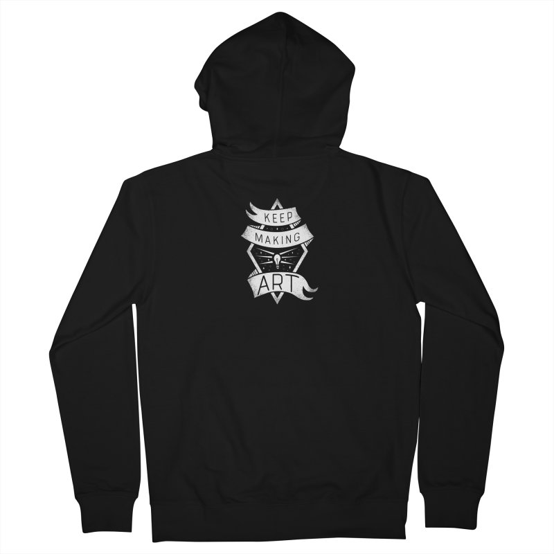Keep Making Art Men's French Terry Zip-Up Hoody by Crowglass Design