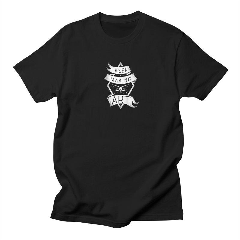 Keep Making Art Men's Regular T-Shirt by Crowglass Design