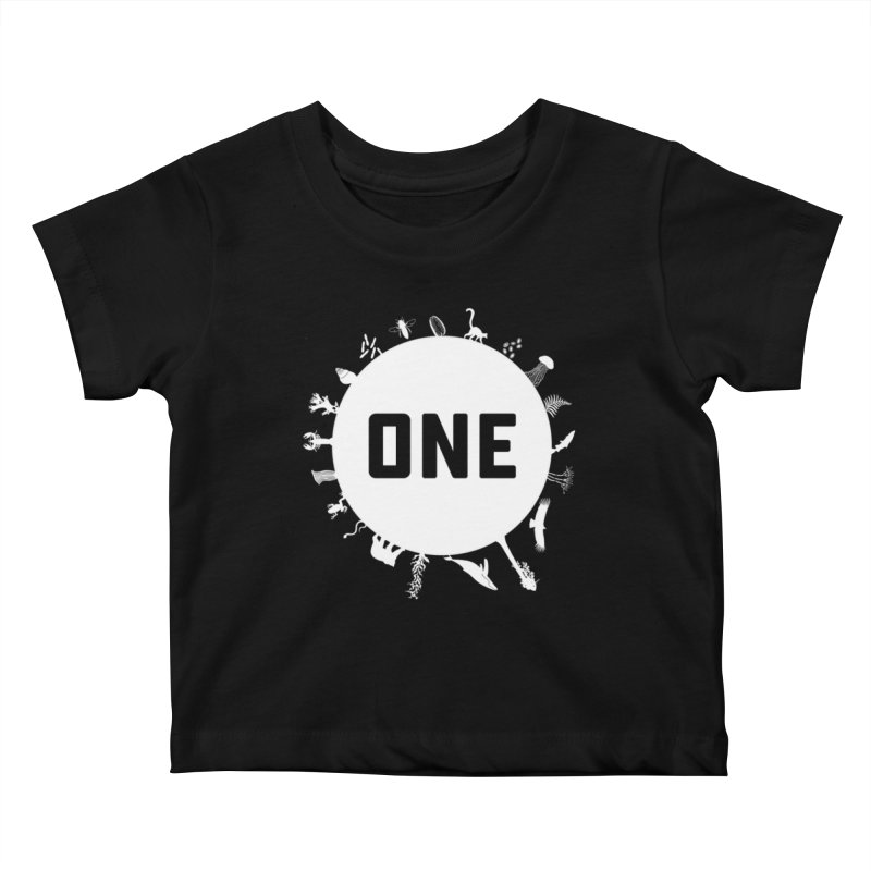 One Earth Kids Baby T-Shirt by Crowglass Design