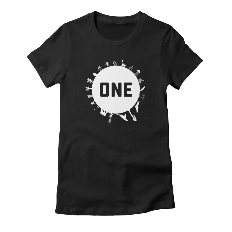 One Earth Women's Fitted T-Shirt by Crowglass Design