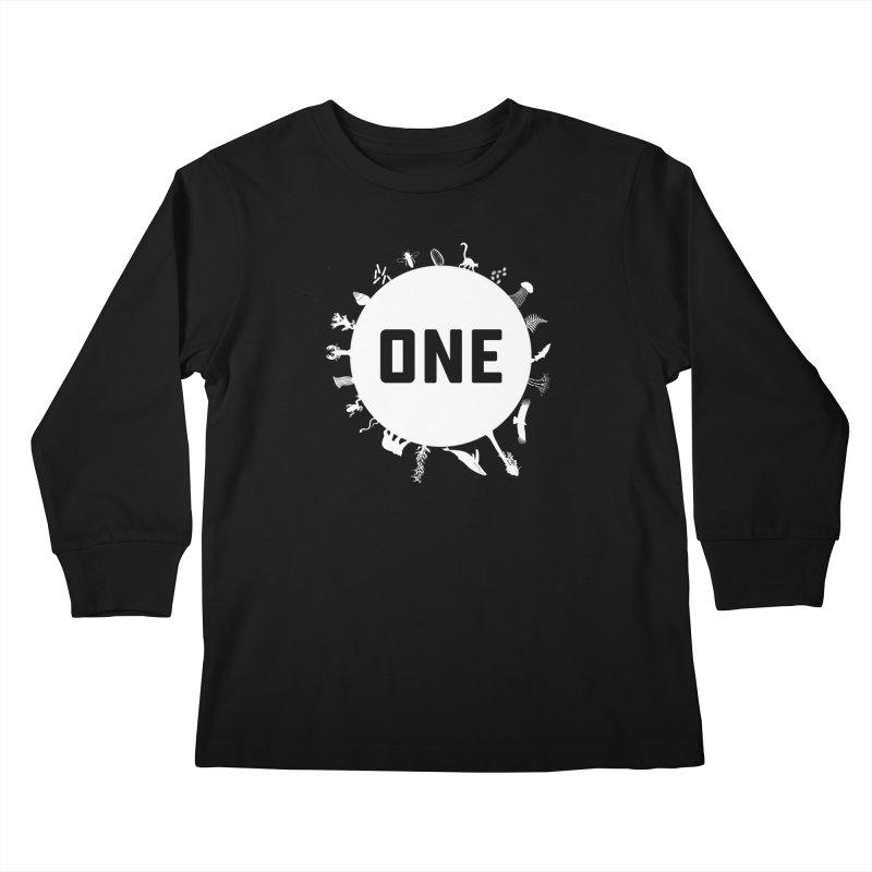 One Earth Kids Longsleeve T-Shirt by Crowglass Design